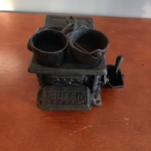 Cast Iron Miniature Stove with Accessories